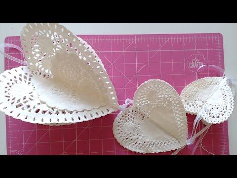 Wedding decorations - 3D Hanging Hearts