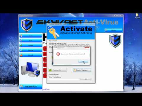 SkyVast Anti-Virus 2012 - Fake Anti-Virus Made In Visual Basic 2010