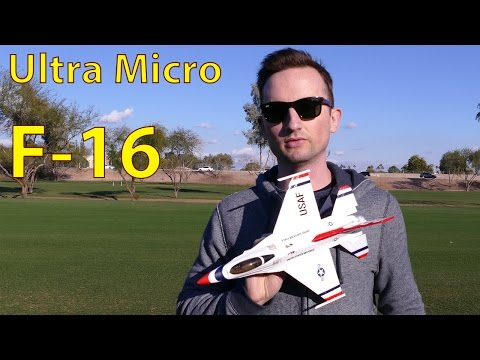 Micro F-16 RC Jet flight video in 4K