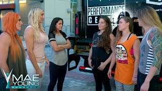 Charlotte Flair, Becky Lynch & Bayley confront Ronda Rousey, M.Shafir & J. Duke: Sept. 5, 2017