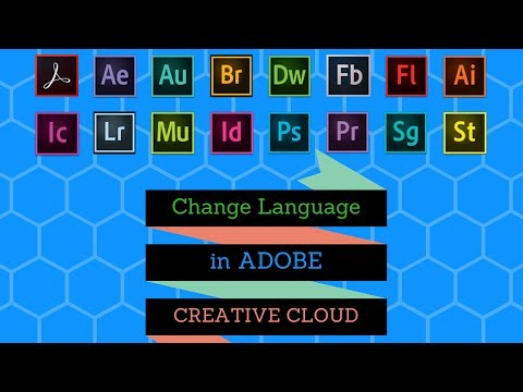 How to change language in Adobe Creative Cloud ?