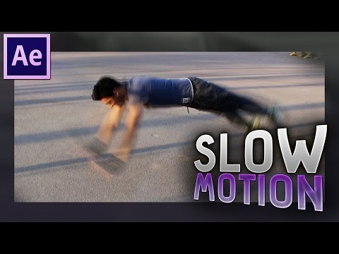 Slow Motion with Timewarp effect in After Effects ✔