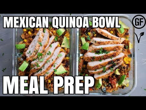 Mexican Quinoa Bowl Meal Prep | What's for Din'? | Gluten Free | Vegan Option