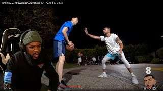 Intense Physical Game! Ricegum vs Brawadis Basketball 1v1! Ex-Girlfriend Bet!