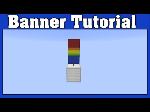 Minecraft Gay Pride Banner Tutorial