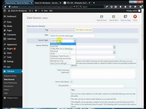 Wordpress Tutorial: How to grab and display table data from another site!