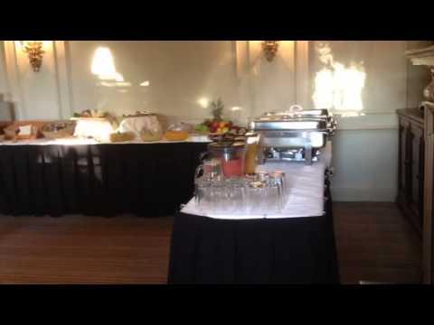 Buffet breakfast set up