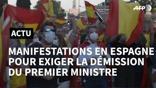 Coronavirus: manifestations en Espagne pour exiger la démission du Premier ministre | AFP