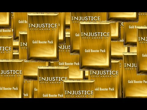 Injustice Gods Among Us - 100 GOLD Booster Packs Opening