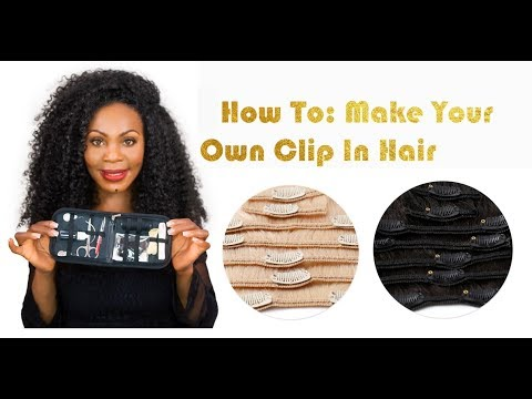 DIY/ How To: Make Your Own Clip In Hair Extensions | ONYC Hair Tutorial