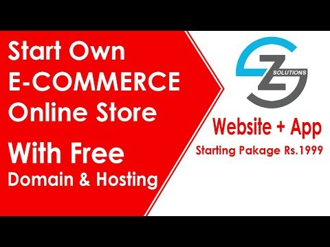 Start Own E-commerce Online Store Website and App From Zetu Solutions With Free Domain & Web Hosting