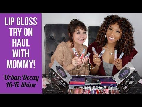 Lip Gloss Try On Haul w/ My MOMMY! Urban Decay Hi-Fi Shine Ultra Cushion| BiancaReneeToday