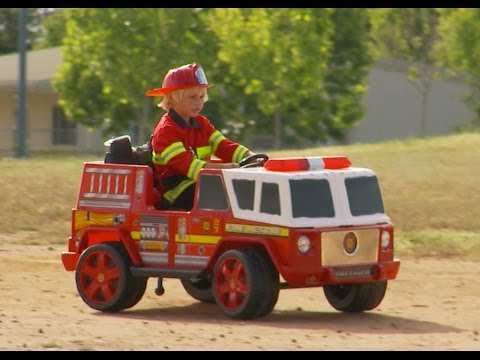 Kids Fire Engine  (Ride On) Unboxing and Review