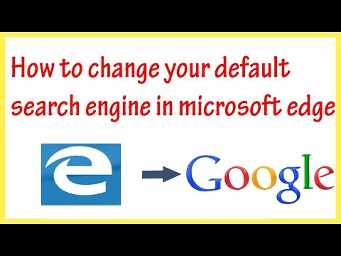 How to change your default search engine in microsoft edge | Change Default search engine  in Edge