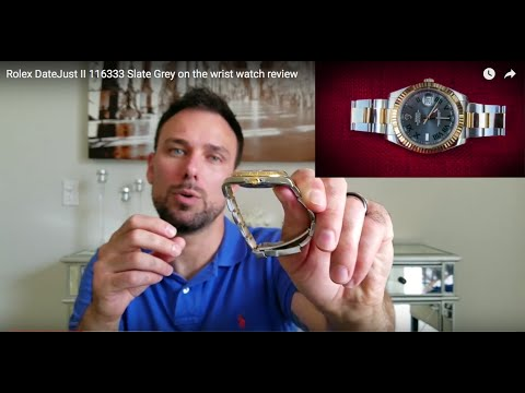 Rolex DateJust II 116333 Slate Grey on the wrist watch review