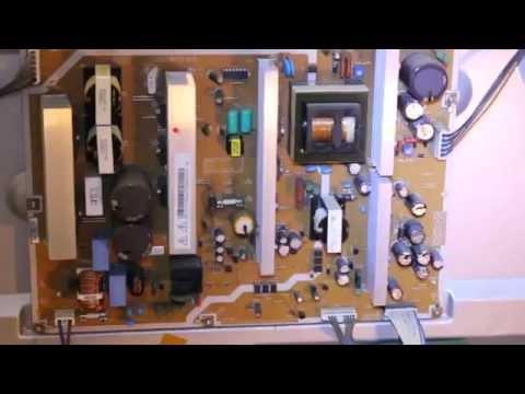 How to Repair Samsung Plasma TV PN50A450 No Power