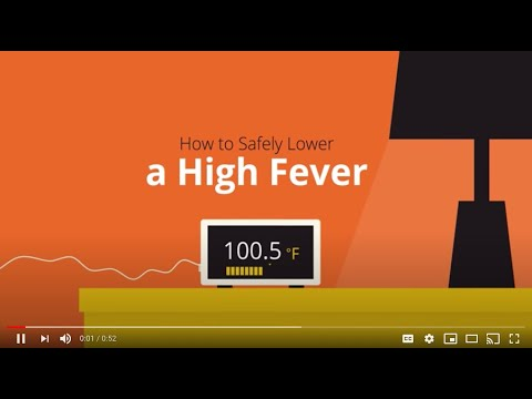 How to to safely lower a Fever.