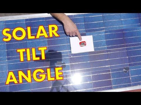 DIY Solar Panel: Best Angle for Solar Panels, Optimum Tilt Angle and Direction