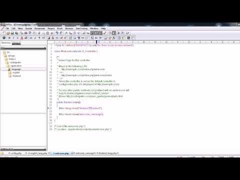 Codeigniter ชุด 31 Multi language