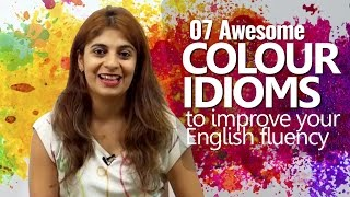 07 Colour Idioms to improve your English Fluency   English Lesson Niharika   Speak Confidently