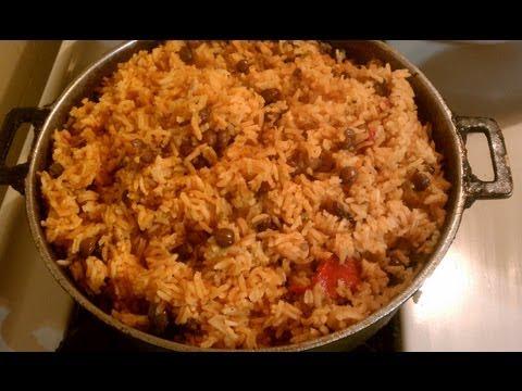 Arroz Con Gandules ~ Yellow Rice with Pigeon Peas
