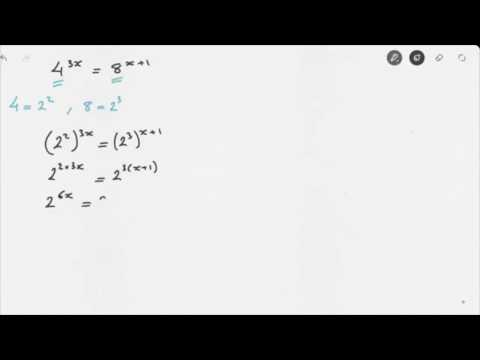 Solving Exponential Equations Video 2