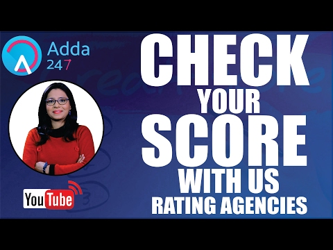 CHECK YOUR SCORE WITH US - RATING AGENCIES
