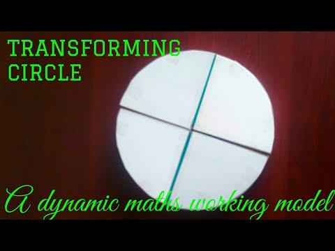 TRANSFORMING CIRCLE | maths working model