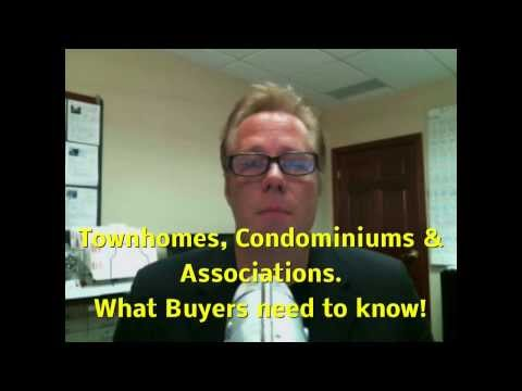Before you buy a Townhome or Condo, Learn what you need to know about associations!