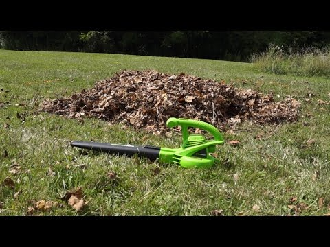 NEW! - Best low-cost leaf blower? Greenworks 7A 160mph  Test and Review