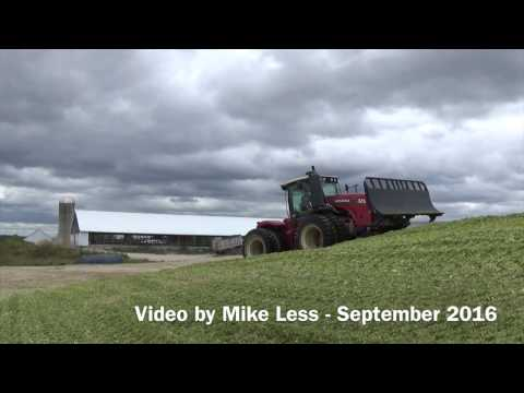 Pushing & Packing Corn Silage in Wisconsin