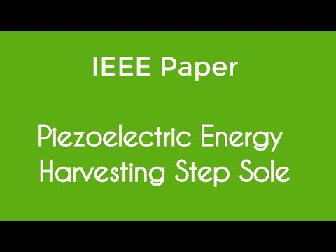 Electricity generation by piezoelectric material
