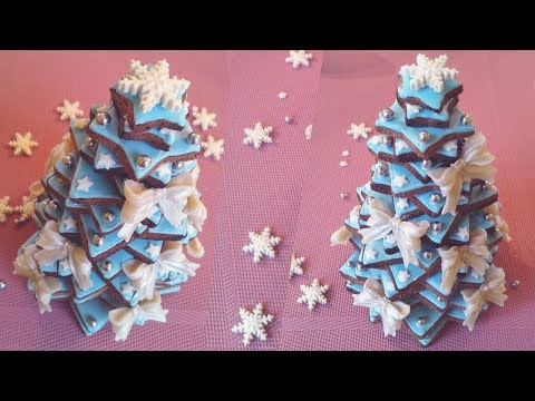Gingerbread Cookie Christmas Tree | Marzipan Candies