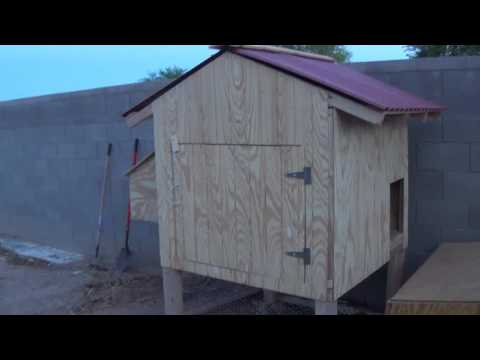 Chicken Coop Video 4 - Walls Roof and The Run - Final Video (for now)