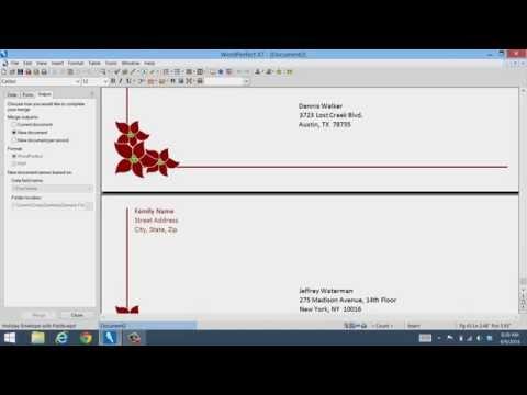 WordPerfect Office Mail Merge