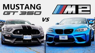 Ford Mustang Shelby GT350 VS BMW M2 -TRACK REVIEW // One Track Mind Ep. 4