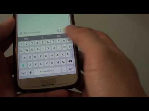 Samsung Galaxy S7: How to Enable / Disable Keyboard Swipe Continous Input