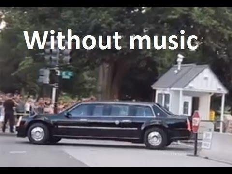 President Obama's motorcade leaving the White House - Washington DC (No music)