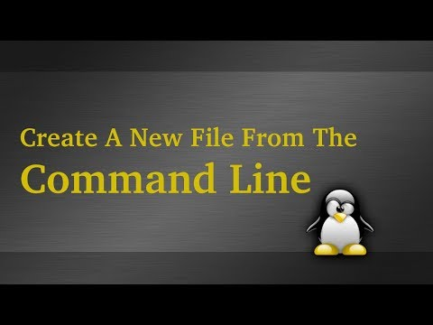 Create (Touch) A File From The Linux Command Line