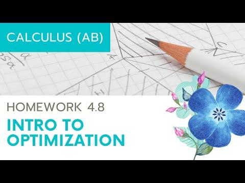 Calculus AB Homework 4.8: Optimization