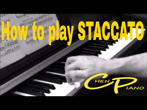 Piano Technique: How to play STACCATO.