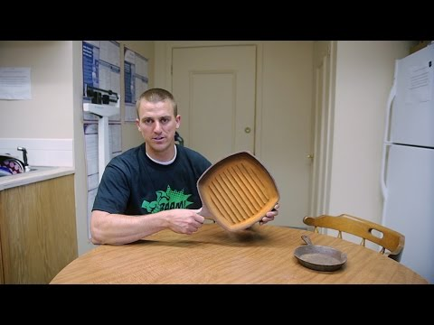 How to clean rust from cast iron with molasses!