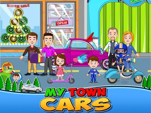 My Town : Car wash, fix & drive cars - best app videos for kids - Ellie