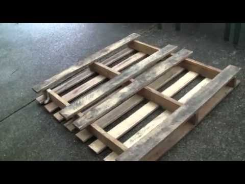Turn a free shipping pallet into a large garden wooden planter box