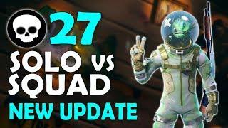 27 KILL   NEW UPDATE SOLO VS SQUAD   DAEQUAN NEW PERSONAL RECORD - (Fortnite Battle Royale)