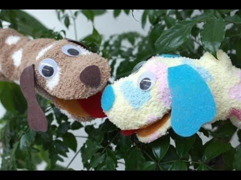양말 손인형 - 강아지 만들기 Sock Puppet Puppy