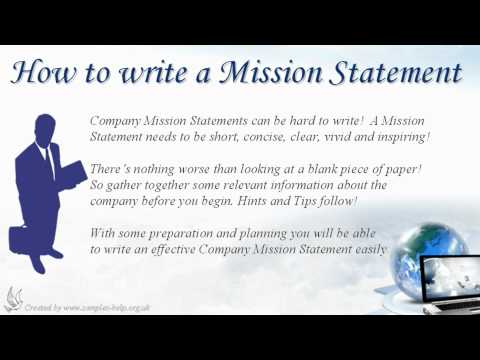 How to write Company Mission Statements
