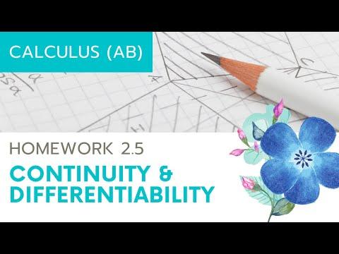Calculus AB Homework 2.5 Differentiability