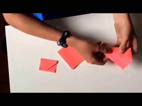 How to make a mini envelope (with a sticky note)