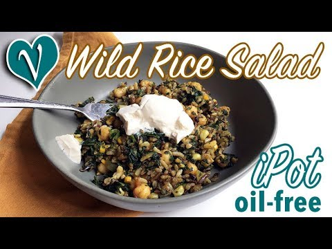 How to Cook Wild Rice in Instant Pot, Greens Salad, Hot Chickpea Lunch